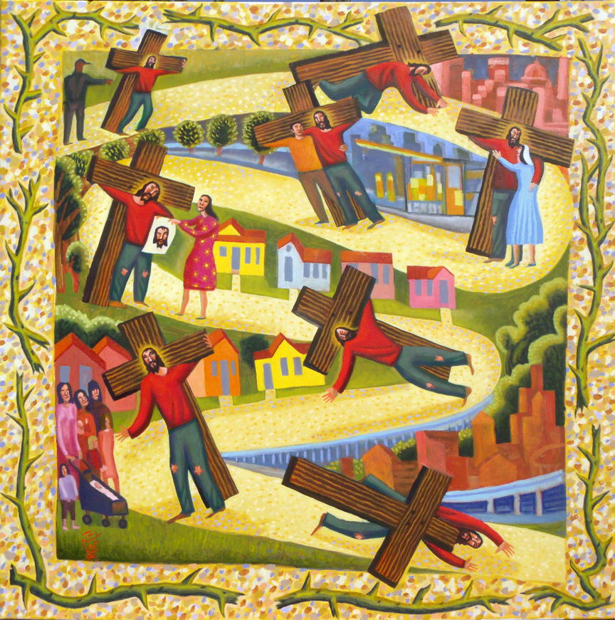 Sorrowful Mystery #4: Carrying the Cross